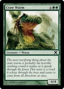 Magic the Gathering Tenth Edition Single Card Common #257 Craw Wurm
