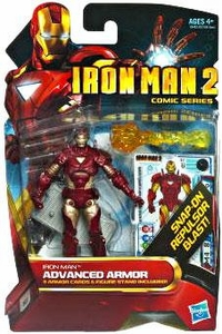 Iron Man 2 Comic 4 Inch Action Figure #32 Advanced Armor Iron Man [Reborn]