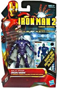 Iron Man 2 Comic 4 Inch Action Figure #33 Arctic Armor Iron Man