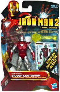 Iron Man 2 Comic 4 Inch Action Figure #34 Silver Centurion Iron Man