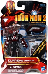 Iron Man 2 Movie4 Inch Action Figure #19 War Machine Munitions Armor