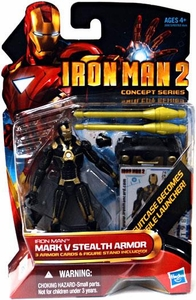 Iron Man 2 Movie�4 Inch Action Figure #20 Mark V Stealth Armor [Black & Gold]