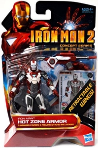 Iron Man 2 Movie4 Inch Action Figure #21 Hot Zone Armor Iron Man [Retractable Wings]