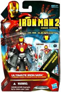 Iron Man 2 Comic 4 Inch Action Figure #36 Ultimate Iron Man [Interchangeable Heads]