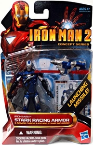 Iron Man 2 Movie 4 Inch Action Figure #40 Stark Racing Armor