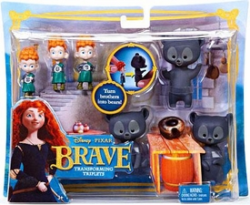 Disney / Pixar BRAVE Movie Playset Transforming Triplets