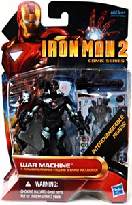 Iron Man 2 Comic 4 Inch Action Figure #38 War Machine [Cyborg with Interchangeable Heads]