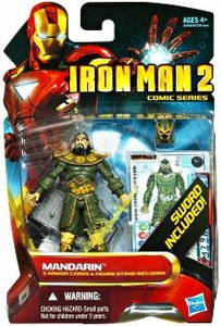 Iron Man 2 Comic 4 Inch Action Figure #39 Mandarin