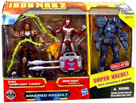 Iron Man 2 Movie Exclusive Movie 4 Inch Action Figure 3-Pack Armored Assault [Ivan