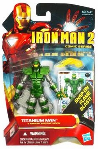 Iron Man 2 Comic 4 Inch Action Figure #31 Titanium Man