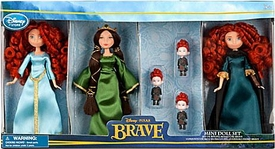 Disney / Pixar BRAVE Exclusive 6 Piece Mini Doll Set [2x Merida, Queen Elinor & Triplet Brothers]