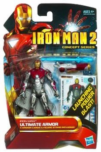 Iron Man 2 Concept 4 Inch Action Figure #18 Iron Man Ultimate Armor [Launching Power Blast!]