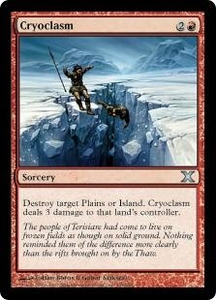 Magic the Gathering Tenth Edition Single Card Uncommon #195 Cryoclasm