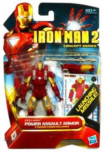 Iron Man 2 Concept 4 Inch Action Figure #4 Iron Man [Power Assault Armor]