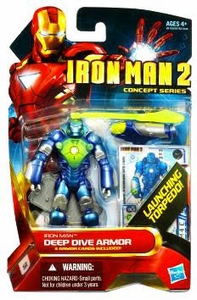 Iron Man 2 Concept 4 Inch Action Figure #6 Iron Man [Deep Dive Armor]