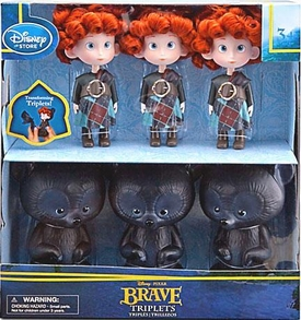 Disney / Pixar BRAVE Movie Exclusive Doll Set Triplets & Bears