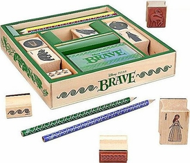 Disney / Pixar BRAVE Movie Exclusive Wooden Stamp Set