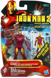 Iron Man 2 Movie 4 Inch Action Figure #8 Iron Man Mark VI [Power Up Glow!]