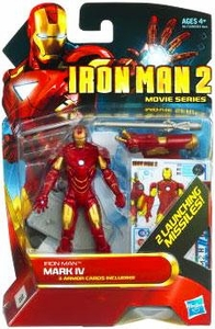 Iron Man 2 Movie 4 Inch Action Figure #9 Iron Man Mark IV [2 Launching Missiles!]