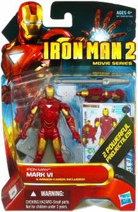 Iron Man 2 Movie 4 Inch Action Figure #10  Iron Man Mark VI {RANDOM Color Schemes} [2 Powerful Projectiles!] BLOWOUT SALE!
