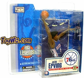 McFarlane Toys NBA Sports Picks Legends Series 1 Action Figure Julius Erving (Philadelphia 76ers) Blue Jersey BLOWOUT SALE!