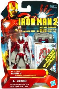 Iron Man 2 Movie 4 Inch Action Figure #11 Iron Man Mark V [Suitcase Becomes Missile Launcher!]