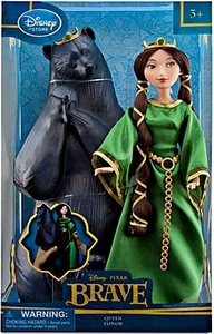 Disney / Pixar BRAVE Movie Exclusive Doll Set Queen Elinor & Bear