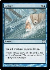 Magic the Gathering Tenth Edition Single Card Uncommon #79 Deluge