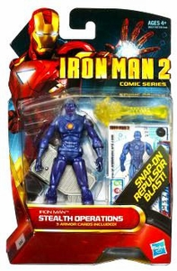 Iron Man 2 Comic 4 Inch Action Figure #24 Stealth Operations Iron Man