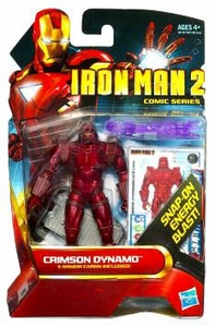 Iron Man 2 Comic 4 Inch Action Figure #25 Crimson Dynamo