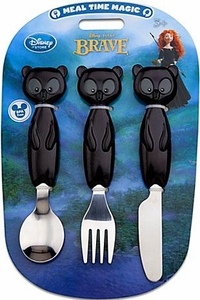 Disney / Pixar BRAVE Movie Exclusive 3-Piece Flatware Set [Spoon, Fork & Knife]