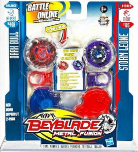Beyblades Metal Fusion Balance & Attack Battle Top 2-Pack Red Horn Uppercut [#BB40A Dark Bull & #B105 Storm Leone]
