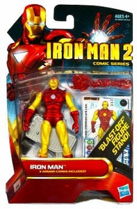 Iron Man 2 Comic 4 Inch Action Figure #26 Iron Man [Classic Armor] BLOWOUT SALE!