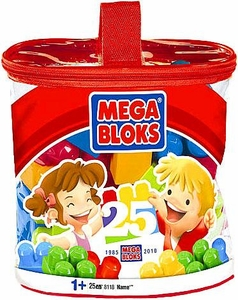 Mega Bloks Set # 8118 Building Set 25 Piece Set [25th Birthday Anniversary]