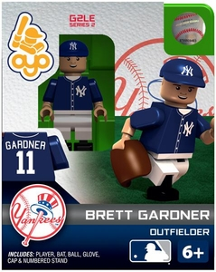 OYO Baseball MLB Generation 2 Building Brick Minifigure Brett Gardner [New York Yankees]