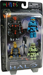 Halo 3 Minimates Exclusive Series 2 Boxed Set 4-Pack [Mark-VI Spartan, Jackal Major, Rogue Green & Brute Chieftain]
