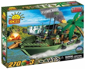 COBI Blocks Small Army #2370 Patrol Boat