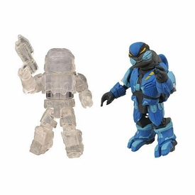 Halo Minimates Exclusive Series 2 Mini Figure 2-Pack Spartan (Active Camouflage) & Elite Assault (Blue)