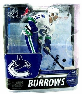 McFarlane Toys NHL Sports Picks Series 29 Action Figure Alex Burrows (Vancouver Canucks) White Uniform Silver Collector Level Chase Only 1,000 Made!