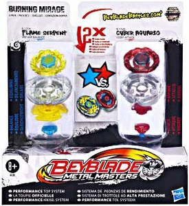 Beyblades Metal Masters 2-Pack Burning Mirage [Flame Serpent & Cyber Aquario]