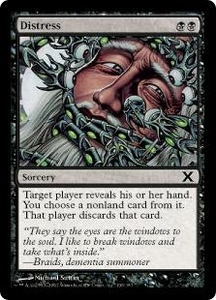 Magic the Gathering Tenth Edition Single Card Common #136 Distress