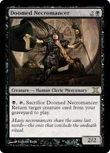 Magic the Gathering Tenth Edition Single Card Rare #137 Doomed Necromancer