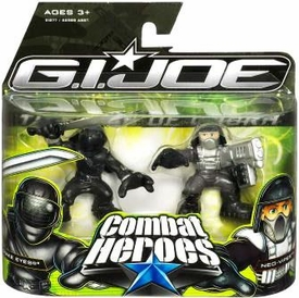 GI Joe The Rise of Cobra Combat Heroes 2-Pack Snake Eyes & Neo-Viper