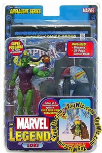 Marvel Legends Series 13 Onslaught Action Figure Green Goblin [Factory Error Loki Insert] [Onslaught Build-A-Figure]