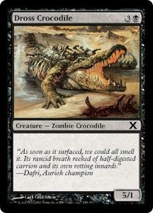 Magic the Gathering Tenth Edition Single Card Common #138 Dross Crocodile