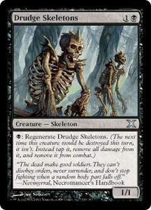 Magic the Gathering Tenth Edition Single Card Uncommon #139 Drudge Skeletons