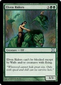 Magic the Gathering Tenth Edition Single Card Uncommon #259 Elven Riders