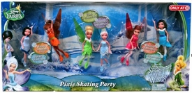 Disney Fairies Exclusive 4.5 Inch Doll 6-Pack Pixie Skating Party [Spike, Fawn, Tink, Periwinkle, Rosetta & Silvermist]