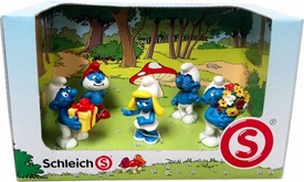 Schleich The Smurfs Mini Figure 5-Pack Set #41248 Giving Gifts