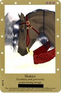 Bella Sara Horses Trading Card Game Series 2 Single Card Common 49/97 Shakira